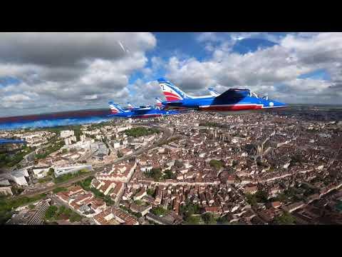 La Patrouille de France survole le ciel de Dijon