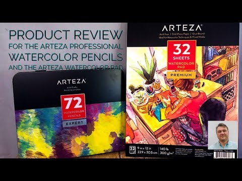Product Review for the Arteza Professional Watercolor Pencils and Watercolor Paper Pad