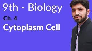 Matric part 1 Biology, Cytoplasm Biology - Ch 4 Cell biology - 9th Class