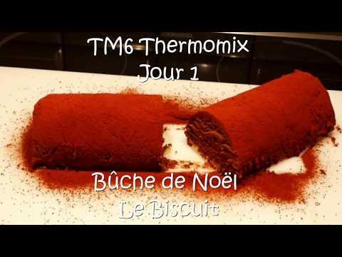 bûche-de-noël-au-chocolat---biscuit-génoise-aux-amandes---avec-le-tm6-thermomix