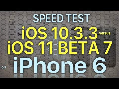 iPhone 6 Speed Test iOS 10.3.3 vs iOS 11 Beta 7 / Public Beta 6 Build 15A5362a