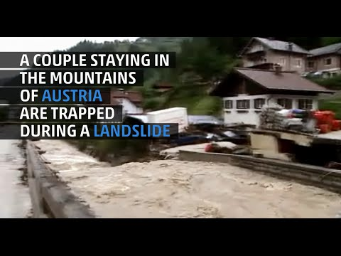 Landslide Traps a Young Couple in the Mountains of Austria