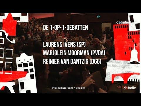 Leve Amsterdam: SP, D66 & PvdA - 1-op-1 debatten - Gemeenteraadsverkiezingen 2018