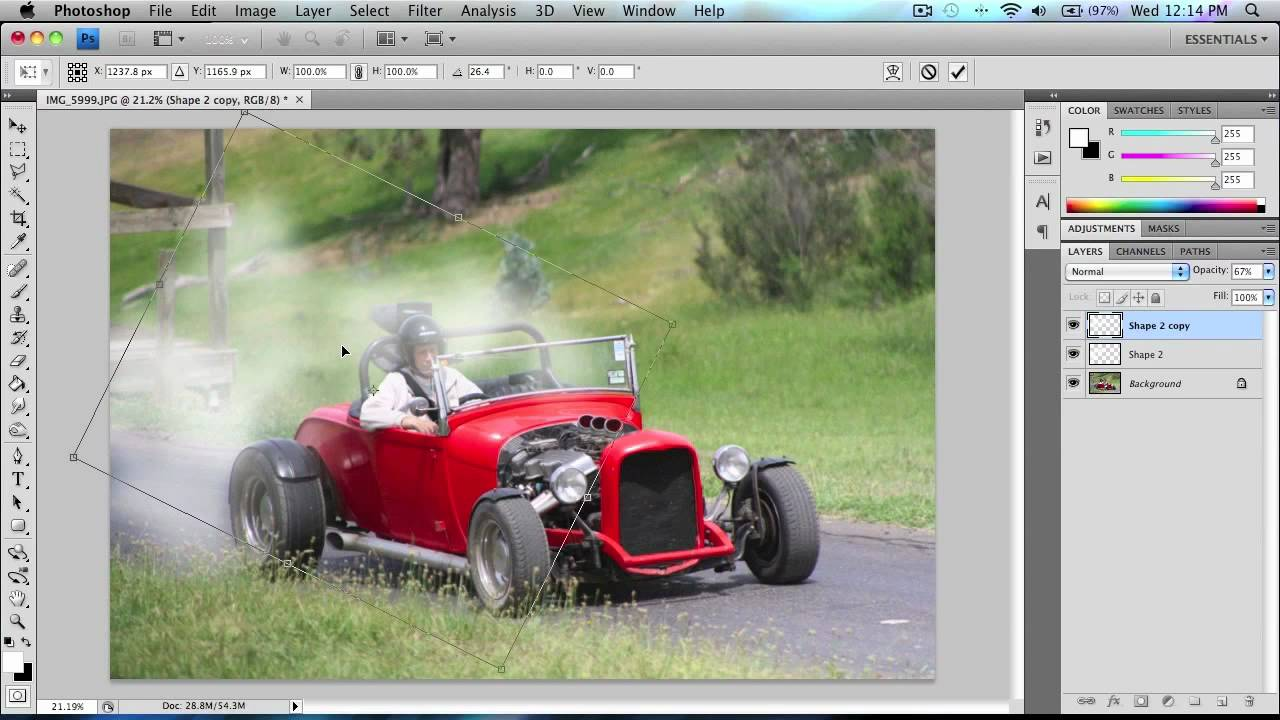 Photoshop tutorial: How to make smoke for a burnout/wheelspin effect