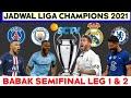 Jadwal Semifinal Liga Champion 2021 | Psg vs Man city | Real Madrid vs Chelsea | Live Sctv | UCL
