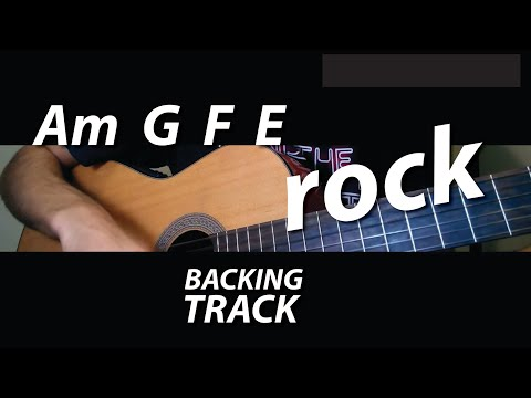 Am G F E Chords / Guitar Backing Track (The Cure - Lovesong)