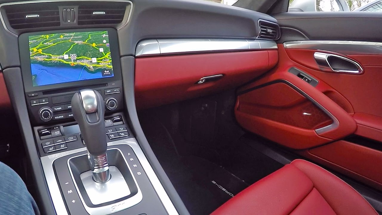 Bordeaux Red Leather Interior On The 991.2 911