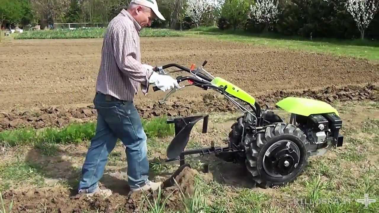 Grillo g 85d motocoltivatore con aratro voltaorecchio for Youtube motozappa