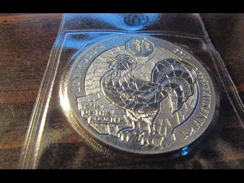 2017 Rwanda 1 Oz Silver Lunar Year Of The Rooster Coin