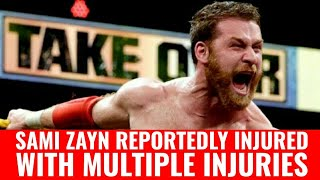 Sami Zayn Injured - Out Of Action With Multiple Injuries