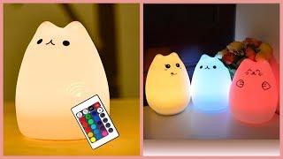 Покупаем на Aliexpress - Детский светильник Ночная кошка