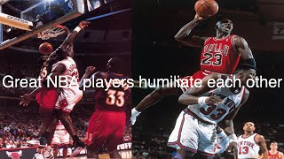 Great nba players humiliating each other