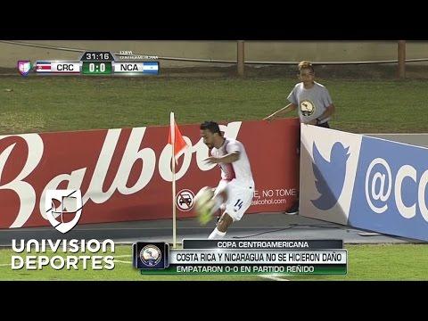 Deslucido empate entre Costa Rica y Nicaragua en la Copa Centroamericana