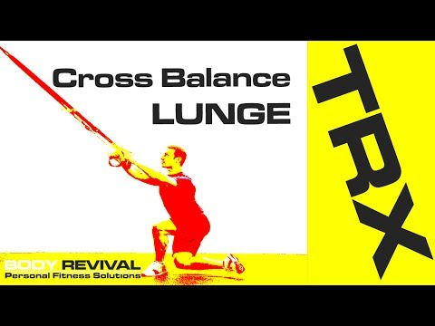 TRX Exercises Cross Balance Lunge