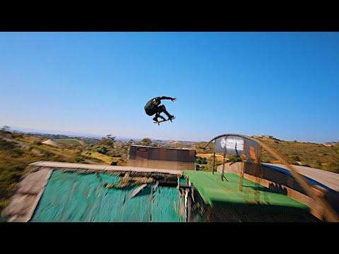 FPV Drone Chases Pro Skateboarder on Mega Ramp