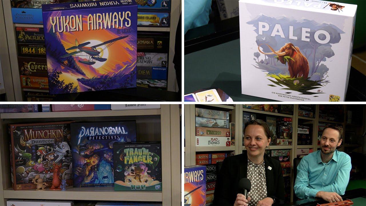 Neuheiten 2020 Asmodee (u.a. Paleo, Yukon Airways, Megacity Oceania) im Interview-Spiel doch mal...!
