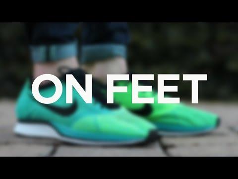 ac92e5e8d522 ON FEET  Nike Flyknit Racer - Lucid Green - YouTube