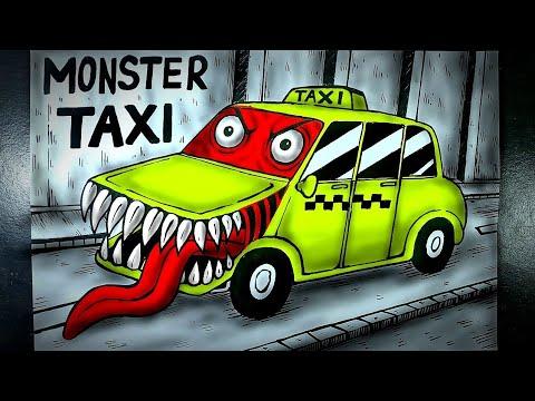 Cerita Mistis Monster Berbentuk Mobil Taksi (Monster TAXI) || DRAWSTORY