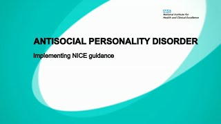 Antisocial Personality Disorder - Implementing NICE guidance