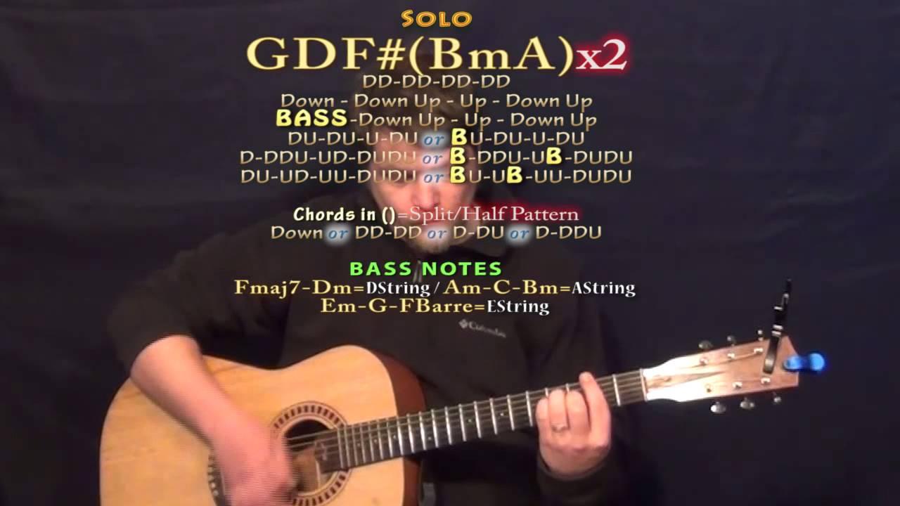 One Headlight Wallflowers Guitar Lesson Chord Chart