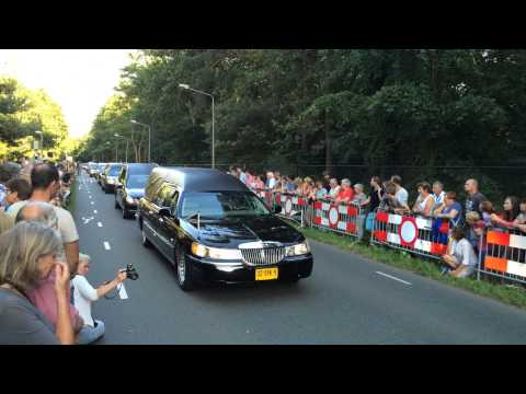 A convoy of hearses carrying victims of the #MH17 disaster. Hilversum, The Netherlands. July 24 2014