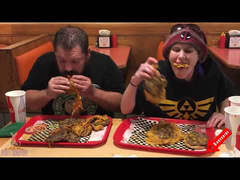 Molly Schuyler and the 11x11 6 lb burger challenge with Da Garbage Disposal