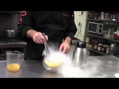 Molecular Gastronomy Liquid Nitrogen Citrus Sorbet Recipe by AOC best caterers in Las Vegas