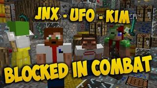 SLÅSS MOT ILLERN UFO OCH KIM - Minecraft: Blocked In Combat