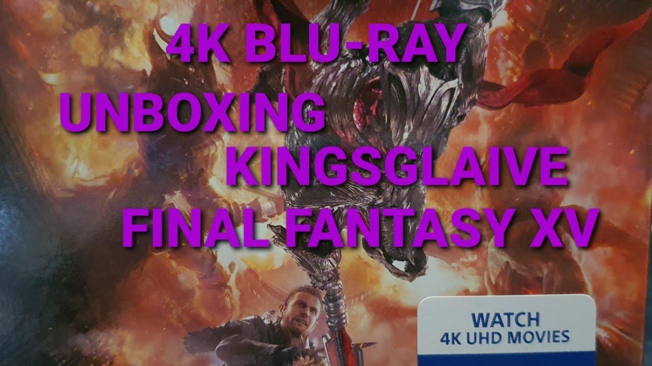 KINGSGLAIVE FINAL FANTASY XV 4K ULTRA HD BLU-RAY UNBOXING + MENU