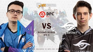 Team Secret vs Nigma | DreamLeague Season 15 DPC Western Europe Upper Division  | Yudijustincase