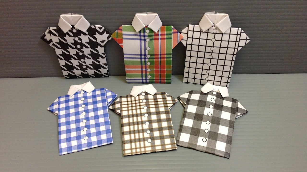 Free origami shirt paper print your own check shirts youtube jeuxipadfo Gallery