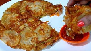 बन्दगोभी और आल का क्रिस्पी नाशता आपको जरूर पसंद आएगा| Crispy Vegetable & Potato Chilla