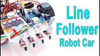 How to Make Arduino Line Following / Follower Robot Car   Mert Arduino and Tech