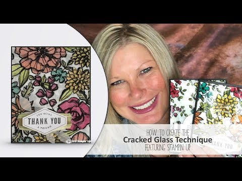 How to create the Cracked Glass Technique Wow Card featuring Stampin Up Lots of Happy Card Kit