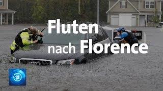 """Überflutungen durch """"Florence"""" im Südosten der USA"""