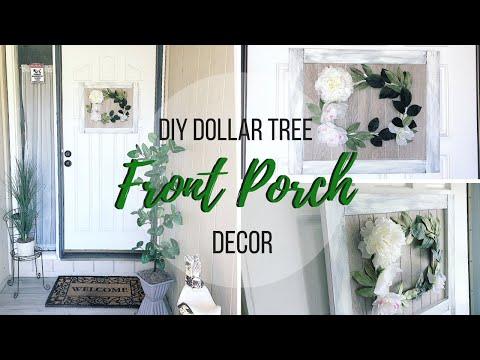 DIY DOLLAR TREE PORCH DECOR | DIY WALMART PORCH DECOR