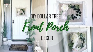 DIY DOLLAR TREE PORCH DECOR | DIY WALMART PORCH DECOR