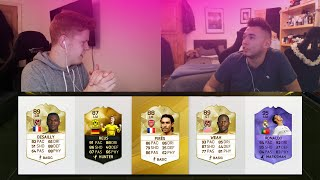 FIFA 16 INSANE NEW LEGENDS DUAL YOUTUBER 5 MINUTE FUT DRAFT!!