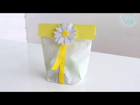 C mo decorar una bolsa de papel youtube - Papel para decorar ...