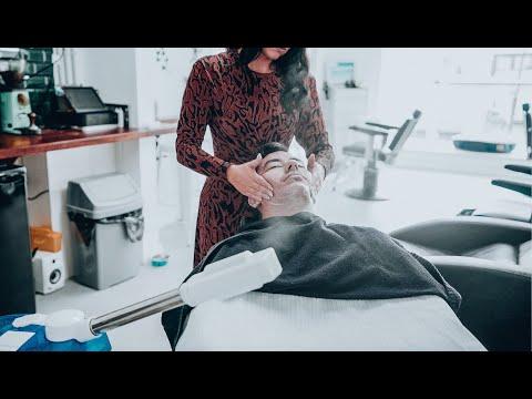 Female Barber Facial & Head Massage (ASMR - No Talking - Nomad Barber)
