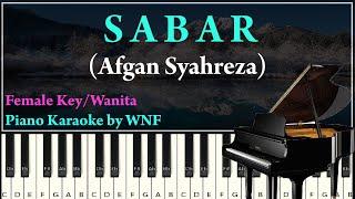 Afgan - Sabar Piano Karaoke Versi Wanita