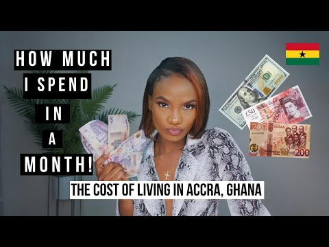 The Cost of living in accra ghana| how expensive is ghana| my monthly expenses