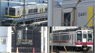 【東武20400系 21411F 安全確認カメラ取付工事 1か月で完了!次の工事は21432F】以前 南栗橋にて8506F+6155Fで留置されていた6155Fは、3か月運用復帰せず。