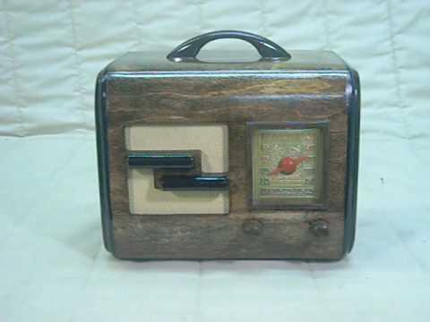 1947 General Television Model 2A5 Old Antique Wood Vintage Tube Radio