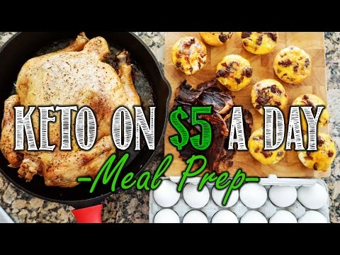 Keto on a Budget Meal Prep Video | $5 a Day Meal Prep for 5 Days | Simple Keto Meal Plan