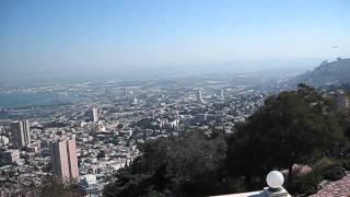 ИЗРАИЛЬ. Хайфа панорама сверху(Северная часть Израиля, третий по величине в стране город-порт Хайфа. Здесь на склоне горы Кармель располож..., 2015-04-08T18:30:58.000Z)