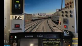 OpenBVE HD: NYC Subway R160B Siemens Q Express Train (96th Street to Coney Island) Time-lapse