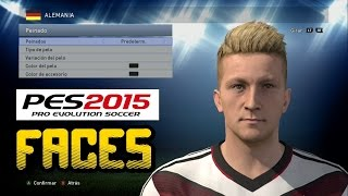 PES 2015 | PLAYERS FACES de Alemania, Chile, Colombia, Argentina, Brasil...