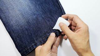 褲子太長不用剪,用這3個小方法,褲腳收短隱形無痕又精緻,太實用了 ‖ 妙招先生