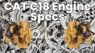C18+Caterpillar+engine video